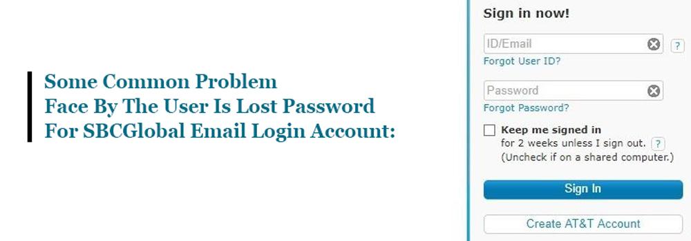 Recover forgotten SBCGlobal password